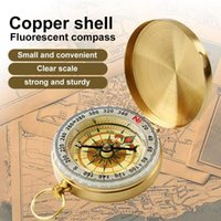 + Acryltasche Messing Kompass Tragbare Wasserdichte Outdoor-Werkzeug Nacht raffinierte Jagd Noctilucent Compass Navigation