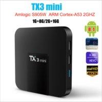 TX3 Mini Smart TV Box Android 8.1 Amlogic S905W 1G 8G 2G 16G 4K H.265 2.4G 5G Dual wifi Set Top Box Media player PK H95 T95