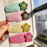 Fashion Candy Color Hairpin Glitter Barrettes Accessories for Girls Metal Snap Shiny Powder Solid Princess Hair Clips