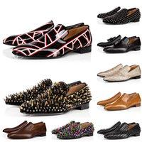 Clássico 2021 Marca Vermelho Bottoms Homens Mulheres Dress Shoes Spikes Sneakers Camurça Preto Branco Couro Designers Mens Trainers Luxury Locais Tamanho 36-47