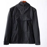 2021ss chaquetas primavera otoño con capucha con capucha media cremallera moda juventud konng gonng europeo y estadounidense estilo de ocio chaqueta para hombre