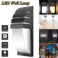 4 팩 벽 램프 AC 85-265V 입력 LED 벽 sconce 검은 하드웨어 IP65 실내 및 야외 정원을위한 방수 에너지 절약 빛