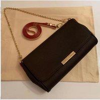 مصمم المرأة الكلاسيكية حقيبة مفضلة ملم رئيس الوزراء pochette حقائب الكتف حقائب اليد القماش القابل للإزالة سلسلة 26 سنتيمتر حجم كبير N41129BVF