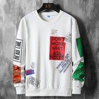 2021 Yeni Yüksek Kaliteli Sonbahar Bahar Moda Boy Tshirt erkek Uzun Kollu Rahat O Boyun T-shirt Erkek Top Tees 6XL 7XL 8XL YDUU