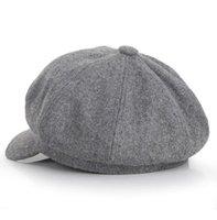 Outono quente outono e inverno moda bonito fêmea de lã de lã boné boné de beisebol sólido estilo octogonal forma pintor cap ps0478