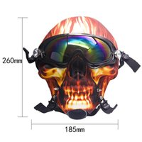 Silicone Gas Mask Bong smoking Creative Skull Pattern Acrylic Water Pipe with Sun Glasses Dry herb Oil Burner Multifunction for smoking
