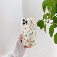 Green leaf small yellow flower bracelet phone cases for iphone 13 pro max 12 11 X XR XS 7 8 plus SE case cover