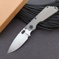 High Quality LC Pocket Folding Knife D2 Stone Wash Blade CNC TC4 Titanium Alloy Handle EDC Tactical Knives