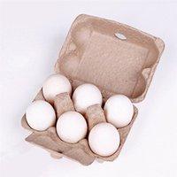 5/10 قطع الدجاج معدات المزرعة للطي البيض علبة تخزين مربع المحمولة علبة الكرتون 6 الشبكة البيض رف المطبخ المنظم الرف