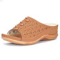 Bequeme Plattform flache Sohle Damen Casual weiche große Zehe Fußkorrektur Sandale orthopädische Bunion Corrector Frauen Schuhe Slipper 210619 E6USWFEB