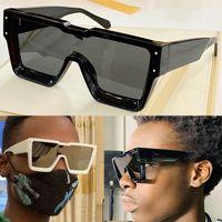 Designer Cyclone Óculos de Sol Z1547W Quadro de Linha Angular e Profundo Design Bevel Chapa Espessa Decoração de Cristal Reflexivo Clássico Óculos Masculinos Qualidade superior