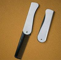 Neue Beuty Faltbare Kamm Falten Taschenclip Haar Schnurrbart Bart Kamm Mode Männer Frauen Handmade Massage Haarbürste