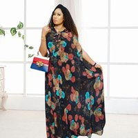 Ethnic Clothing Dashiki Black Bazin Riche Sexy Short Sleeve Robe Evening Long Dress Hoodies Floral Printed African Dresses For Women
