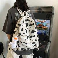 Qehiie leite bonito impressão feminina mochila lona viagem mochila mulheres saco de escola para adolescente meninas moda mochila atacado