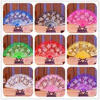 Lace Wedding Fans Handfläkt Kinesisk Craft Dance Folding Fan Lady's Girl's Vintage Retro Handheld Folding Fan för scenprestanda