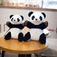 Mochila de dibujos animados peluche juguete lindo gigante panda muñeca bolsa kindergarten bebé mensajero