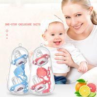 Baby-Schnuller Set Beißring Weiche Silikon Beißring Nippel Schnuller Säuglingspflege Kauspielzeug für Baby Fütterung Schnuller + Kette Kombination ZYC43