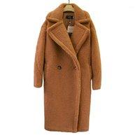 Donne invernali in finto pelliccia e giacche in pelliccia di agnello solido Teddy cappotti da donna Teddy Giacche CWF0004-51