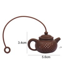 Hot Creative Silicone Teapot Shape Tea Filter Safely Cleaning Infuser Reusable Tea Coffee Strainer Tea Leaks Kitchen Accessories AHE7245