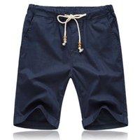 Brother Wang мужская повседневная шорты летние удобные белья пляжные шорты эластичные талии сплошные цвета шорты L-5XL X0601
