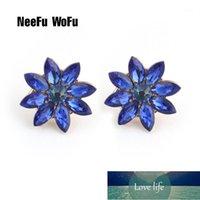 Dangle & Chandelier NeeFu WoFu Sweet Earrings Brand Crystal Earring Flower Jewelry Large Long Brinco Ear Oorbellen Christmas Gift1