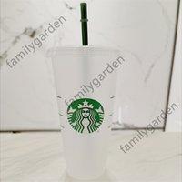 DHL Free Starbucks Starbucks Goddess 24oz / 710ml canecas de plástico canecas copo reutilizáveis bebendo limpo copos de fundo plana de plataforma