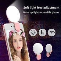 Grátis Shpping Mini Luzes Selfie Lente de Telefone Móvel Portátil Selfie Anel Clipe LED Lâmpada de Selfie para Samsung para Xiaomi Huawei USB Carregamento
