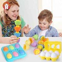 6 stücke bunte ei baby spielzeug puzzlespiel früh pädagogisch passende spielzeug lernen farbe form sortierer kinder kleinkind kindergeschenk