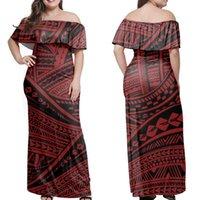 Yeni Bir Omuz Polinezya Elbise Tonga Uzun Etek Büyük Etek Polinezya