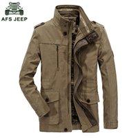 Vestes pour hommes 2021 Zhan di Ji Ji Pu Marque Hommes Outwear Jacket Haut Qualité Homme Casual Coton Coton Couvertures d'automne et d'hiver D130