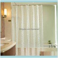 Asoresen Home Garden3D PVC Wasserdichte Dusche Weiß Transparente Vorhang Badvorhänge Badezimmer mit Haken Drop Lieferung 2021 ng2mr