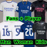 REAL MADRID camisas 20 21 camisa de futebol  Casemiro HAZARD SERGIO RAMOS BENZEMA VINICIUS camiseta camisa de futebol uniformes homens + crianças kit 2020 2021