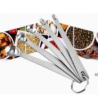 Paslanmaz Çelik Mini Mutfak Aracı Baharat Ölçüm Kaşık Beş Parça Set Kombinasyon Pişirme DHB7614