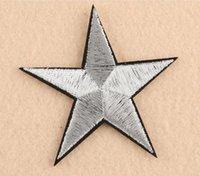 Пятиконечная звезда ткань пастой патч аксессуары обувь и шляпы патчи аппликация гладильная аппликация вышивка патча ткань и шить OOD5538