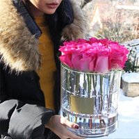 9/22 Löcher Hutschachteln Runde Blumenkästen Klare Acryl Rose Blume Verpackung Tasche Geschenk Aufbewahrungsbox Blume Verpackungskiste mit Deckel