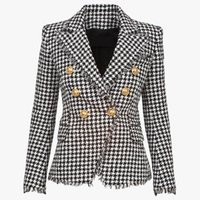 Women's Two Piece Pants 2021 Fall Suit Collar Long Sleeve Slim Button Double Breasted Commuter Fashion Top Blazer Plus