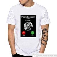 Pablo Escobar Calling Mens Man T 셔츠 Plata O Plomo El Patron Summer Camiseta 팝 아트 Narcos 콜롬비아 인쇄 티셔츠 셔츠 YH118Soccer Jersey