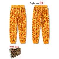 Calças Mens Calças High Street para Mulheres Calças Esportivas Reflexivas Sweatpants Casuais Mens Hip Hop Camo Streetwear Camo Alta Qualidade Com Caixa