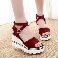 Dress Shoes Comfort For Women Clogs With Heel 2021 Sandals Muffins Shoe Suit Female Beige All-Match Espadrilles Platform Thick Velvet