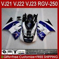 Cuerpo para Suzuki RGV-250 Panel RGV250 SAPC VJ22 RVG250 VJ 22 20HC.5 RGVT-250 90 91 92 93 94 95 96 RGVT RGV 250CC 250 CC 1990 1991 1992 1993 1994 1995 1996 Carreyo Blue Stock Blk