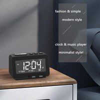 Radio Dual Alarm Clock Speaker With 2 USB Ports Stepless Dimming LED Digital Blue-tooth 5.0 FM Time Electronic