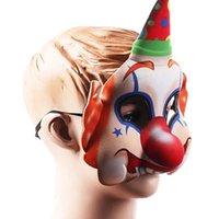 2021 Хэллоуин Страшный клоун Маска для лица Большой нос Улыбаясь Джокер Маски для лица Креативные Дети Дети Костюм Косплей Косплей Партия Предполагается Предполагается Оформление Головной убор G78IB3W