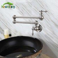 HOwnifety Orb / escovado / Chrome / Ouro Único Frio Torneira de Água Fornecida Montada Uma Rotação de Furos Torneira 210719