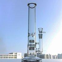 Прямые трубки кальяны 14 дюймов высокий бонг ледяной щит нефтяные монтажные установки стерео матрицы Perc стеклянные водопроводные трубы 18 женских суставов 5 мм густые бонги с миской