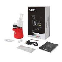 SOC E Nail Kit Authentic GreenlightVapeas Temp Control Wax контейнер концентрат масляного эндоса, сухой испаритель 2800 мАч Water Dab