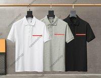 2021 Neue Ankunft Europa Herren Streifen Drucken T-shirt Hohe Qualität Schraube Baumwolle Patchwork Polo Brief T Shirts Designer Casual Tops T-Shirt T-Shirt