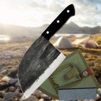 Couteau de cuisine en acier forgé à la main Couteaux de Chef Couteaux Full Tang High-Carbon Couteau de boucherie Couper à viande Couteaux de cuisine Couteaux de cuisine