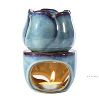 توليب السيراميك الضروري مصباح النفط رائحة مصباح الجوف نمط بسيط الأساسية رائحة النفط شمعة البخور الشعلات الديكور الداخلي EWA3887