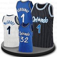 """Tracy 1 McGrady Orlando """"Magic"""" Jersey Basketball Penny 1 HARDAWAWAY JONATHAN 1 Isaac Mo 5 Bamba Retro Retrô Team Jersey"""