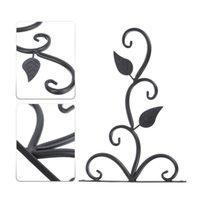 Hooks & Rails 1Pc Wall-mounted Iron Flower Basket Hook Hanger Holder Balcony Home Decoration